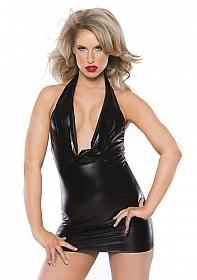 Alluring Kitten Dress - Black