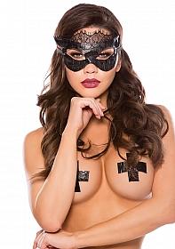 KITTEN Croc and Cat Mask - Black