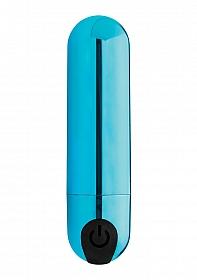 10X Vibrating Metallic Bullet - Blue