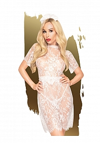 Poison cookie  -  Lace dress with eyelash lace details, includin
