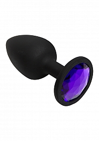 Booty Bling - Spade Small - Purple - Jeweled Wearable Silicone P