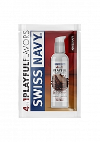 Chocolate Sensation Playful Flavored 4 in 1 Lubricant - 5ml