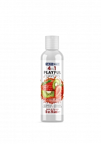Playful 4 in 1 Lubricant with Straw-Kiwi Pleasures Flavor - 30ml