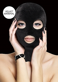 Velvet & Velcro Mask with Eye and Mouth Opening