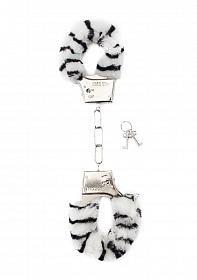 Furry Handcuffs - Zebra