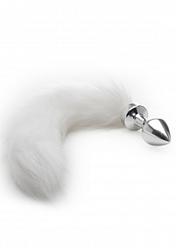 White Tail Buttplug - Silver