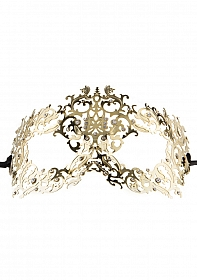 Forrest Queen Masquerade Mask - Gold