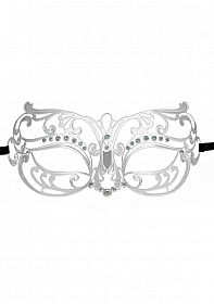 Tribal Masquerade Mask - Silver