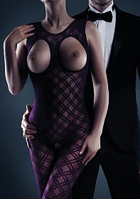 Maisie Bodystocking - Purple - One Size