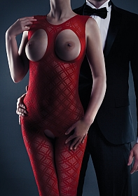 Maisie Bodystocking - Red - One Size