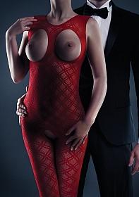Maisie Bodystocking - Red - One Size