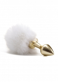 Beginner Bunny Tail Buttplug - Gold