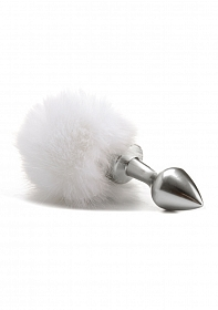 Beginner Bunny Tail Buttplug - Silver