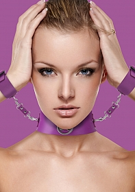 Collar with Cuffs - Purple