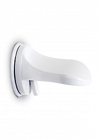 Single Locking Suction Foot Rest - White