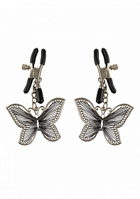 Butterfly Nipple Clamps - Silver