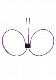 Zip Tie Cuffs - Extended - Purple
