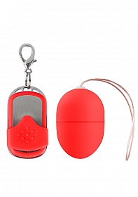10 Speed Remote Vibrating Egg - Small - Red