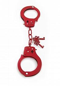 Metal Designer Handcuffs - Red