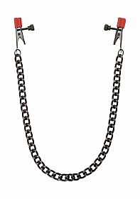 Chain - Nipple Clips with Heavy Chain and Silicone Tips