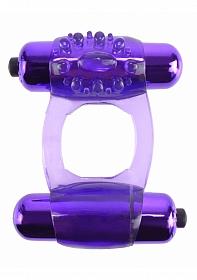 Duo-Vibrating Super Ring - Purple