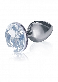 Bejeweled Stainless Steel Plug - Diamond