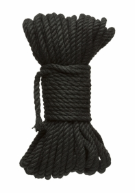 6mm Hemp Bondage Rope - 50 Ft. Black