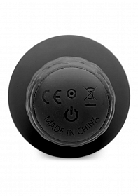 The Plug 10x Silicone Vibrating Thruster - Black