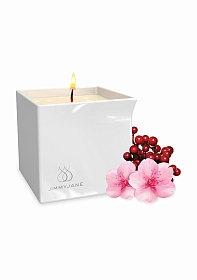 Afterglow Massage Oil Candle Berry Blossom - White