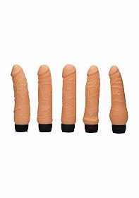 Bedside Companions - 5 Different Vibrators - Flesh