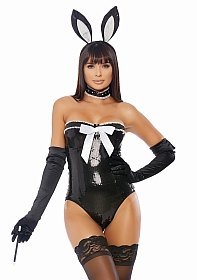 Voila Sexy Rabbit Costume - Black