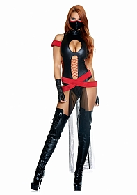 Slay All Day Sexy Ninja Costume - Black