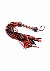 Black and Red Suede Flogger