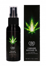 CBD Cannabis Massage Oil - 50 ml