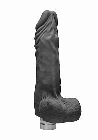 9� / 23 cm Realistic Vibrating Dildo With Balls - Black