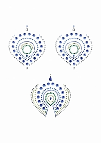 Flamboyant - Rhinestone Body Decoration - Green and Blue