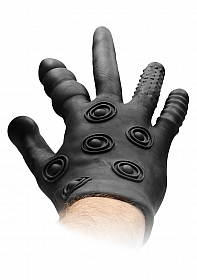 Silicone Stimulation Glove - Black