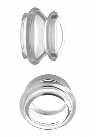 Clear Plungers Silicone Nipple Suckers - Small - Transparent